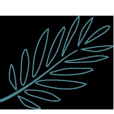 Logoblatt Mitteldunkelpetrol Swenja Heinrich-Varga